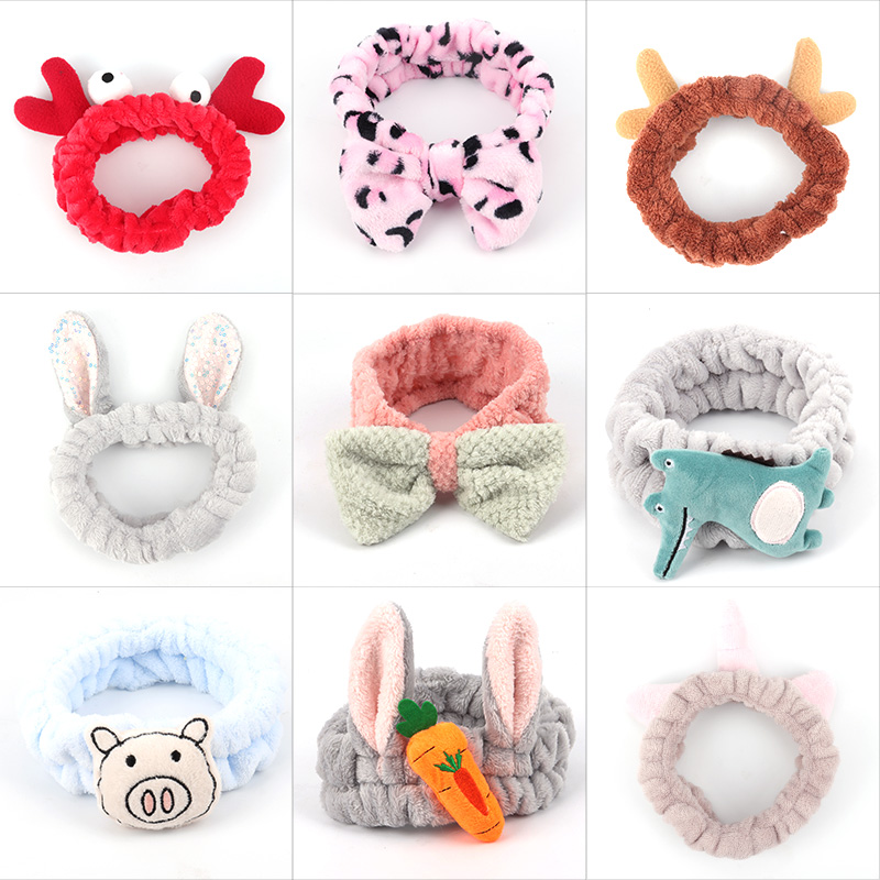 2020 New Style, Hair Band Girl, Cartoon Headband, Face Makeup Hair Accessories, Cute Headwear, Women's Hair Band Wholesale