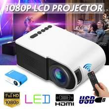 7000 lumens 1080p led portátil mini projetor completo hd 3d projetor tft lcd projetores de cinema em casa vídeo multi-mídia dropship