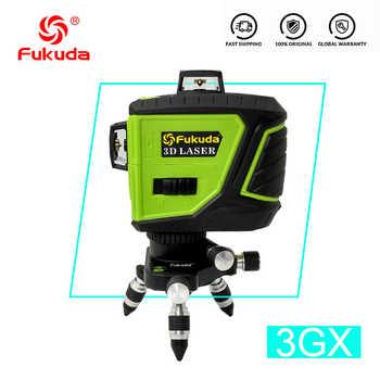 Fukuda Marke 12 Linien 3D 93T-3GX Laser Ebene Selbst Nivellierung 360 Horizontale Und Vertikale Kreuz Super Leistungsstarke GRÜN Laser strahl