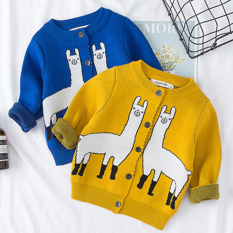 Baby Sweater 1-6 Yrs Boys Girls Sweaters Cardigans Autumn Causal Toddler Long Sleeves Knitwear Jackets Winter Children Knit Tops