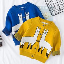 Sweter dziecięcy 1-6 lat swetry dla chłopców i dziewcząt swetry rozpinane jesień przyczynowe maluch długie rękawy dzianiny kurtki zimowe dziecięce bluzki z dzianiny tanie tanio campure spandex COTTON Na co dzień Cartoon REGULAR O-neck Unisex 18025 Pełna NONE Pasuje prawda na wymiar weź swój normalny rozmiar