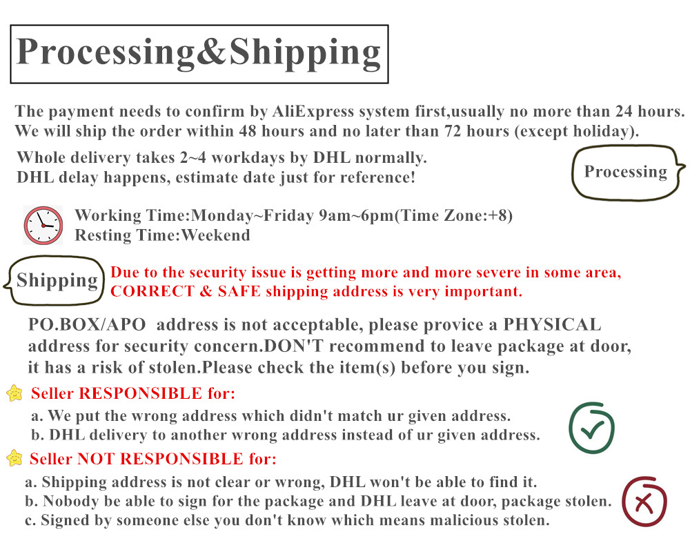 processing &shipping