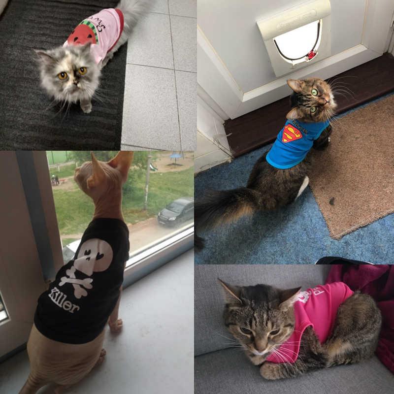 Mèo Cưng Quần Áo Mùa Hè Mèo Áo Thể Thao Áo Thun Nữ Trang Phục Quần Áo Mỏng Dành Cho Chó Nhỏ Chi Thoáng Mát Puppy Quần Áo kitty 40