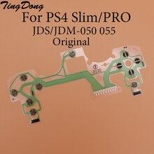 1 шт. Оригинальный новый для ps4 контроллер токопроводящая пленка шлейф кабель высокое качество для ps4 джойстик ремонт деталь JDS-055 JDM-055