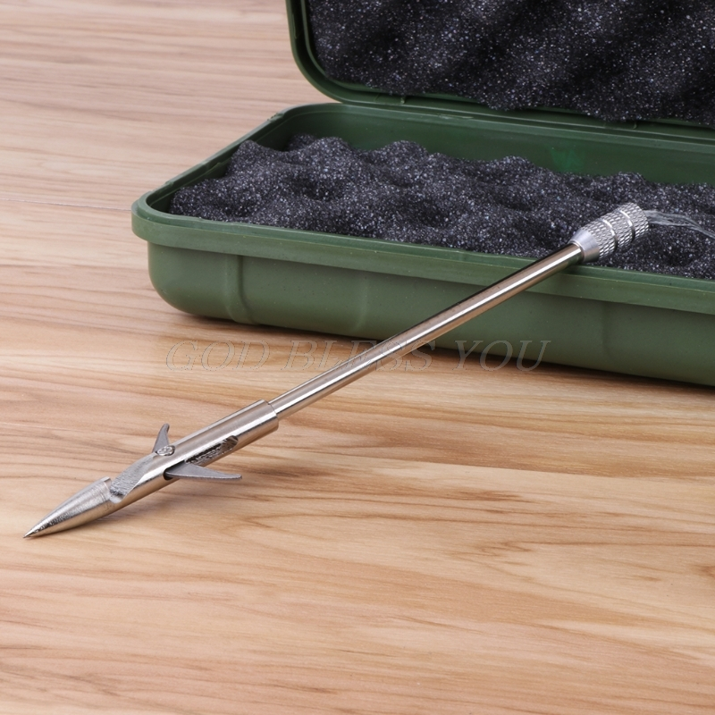 Fishing Broadhead Arrow Stainless Steel Catapult Slingshot Bow Hunting Fish Dart