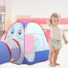 Туннельная палатка для детей для ношения в помещении, детский бассейн с шариками игровой домик палатка для детей складной Открытый сканирование Игровая палатка для детей подарок