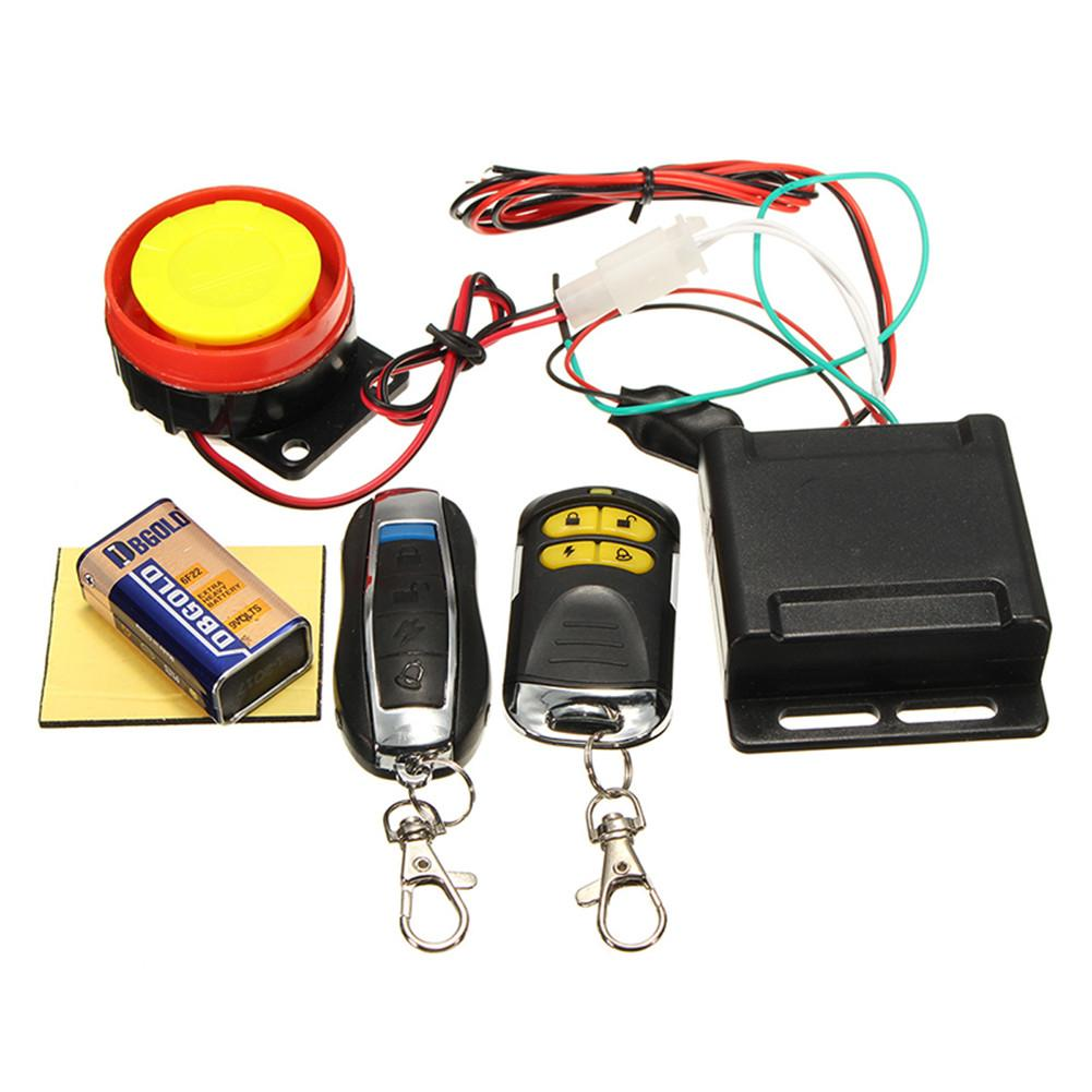 Motor Theft Protection Alarm Device Car Alarm 12V Cutting Line Protection Dual Remote Control Type Motorbike Accessories
