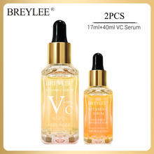 BREYLEE Vitamin C Face Serum Hyaluronic Acid Whitening Moisturizing Freckle Essence Removal Melanin Brighten Skin Face Skin Care