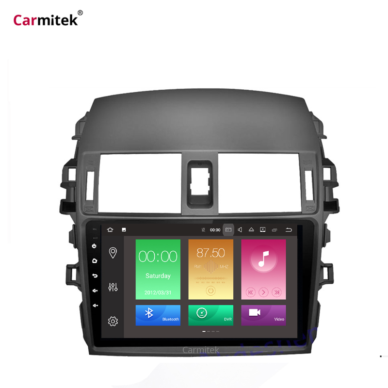 2G+32G Android Car Radio Multimedia Player For <font><b>Toyota</b></font> <font><b>Corolla</b></font> <font><b>E140/150</b></font> 2008 2009 2010 2011 2012 2013 Stereo GPS Navigation 2 din image
