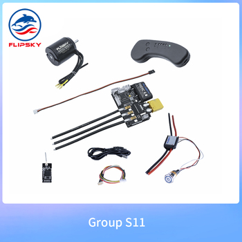 Group S11 Electric Skateboard DIY Parts DC Motor VESC VX1 Remote Anti Spark Switch Electric Bike Motor ESC Speed Controller
