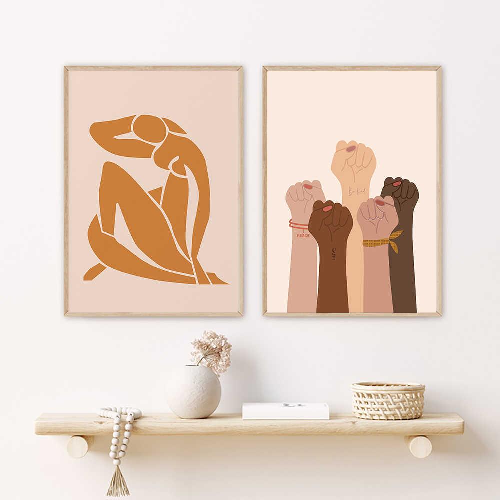 Non-branded Toile Peinture Fille Puissance Impression F/éministe Illustration Affiche Femme Forte Femelle Art Mur Photo Femme Chambre D/écor Filles Cadeau 40x60 cm Pas de Cadre