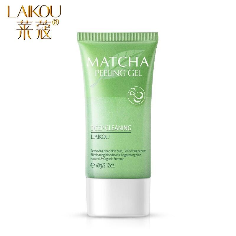 LAIKOU Matcha Exfoliating Peeling Gel Facial Scrub Moisturizing Whitening Nourishing  Repair  Scrubs Face Cream Skin Care 2