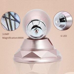 Image 2 - 3MP HD WIFI Haut Kopfhaut Detektor Led leuchten Haarfollikel Tester Schönheit Shop Salon Pflege Gesichts Haus Prüfung Digital Mikroskop