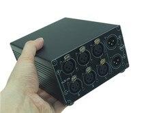 3 طرق Hifi إشارة مصادر محدد 3 في 1 خارج XLR التوازن ستيريو الصوت التبديل الجلاد السلبي محدد صندوق الخائن