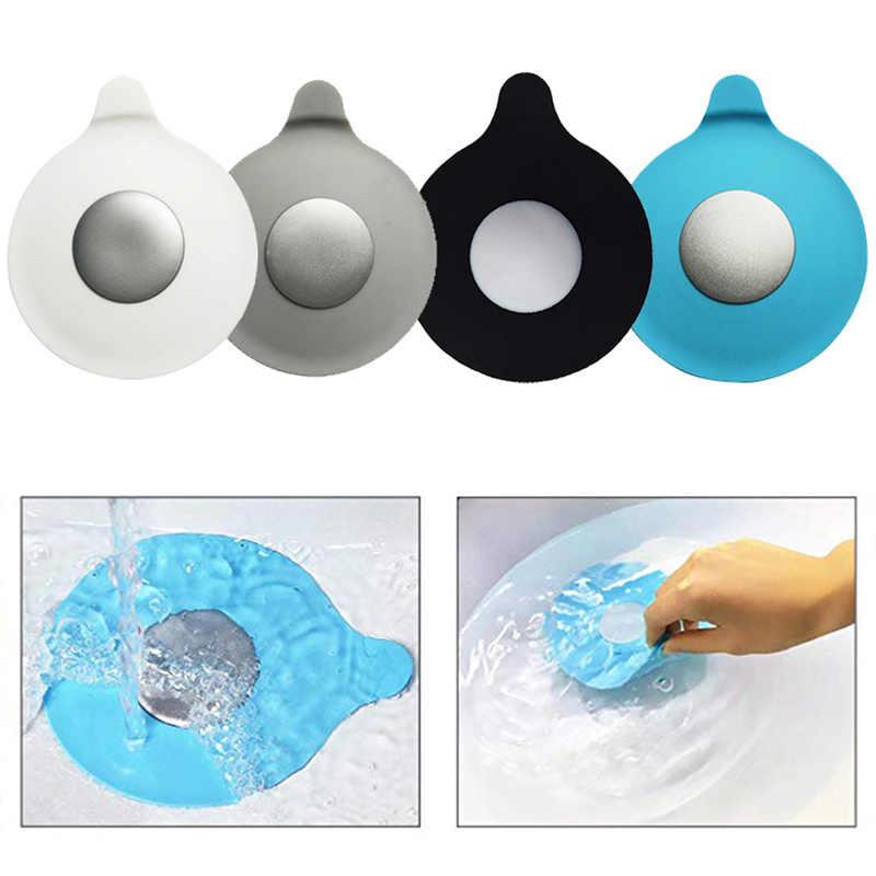 Silicone Ralo Da Pia Filtro Do Chuveiro Banheira Do Bebê Banheira Dreno Plug Stopper Tampa Protetor Acessórios Do Banheiro Pia Da Cozinha