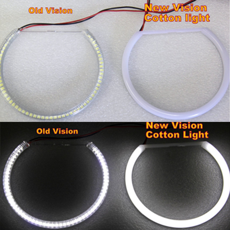 Image 5 - 2x131mm+2x146mm SMD LED Angel Eyes  E46 Non Projector For BMW SMD LED Angel Eyes Rings WHITE 3 series coupe/cabrio sedan-in Car Light Accessories from Automobiles & Motorcycles