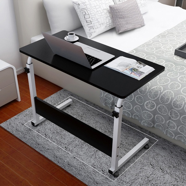 Mobile Portable Adjustable Computer Desk With Wheels Home Office Chair Can Be Lifted And Lowered Bedside Table