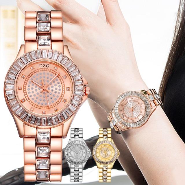 30mm Small Womens Watch Shockproof Waterproof Luxury Ladies Ar Metal Watch bracelets Rhinestone Bu Cheap Chinese Watches