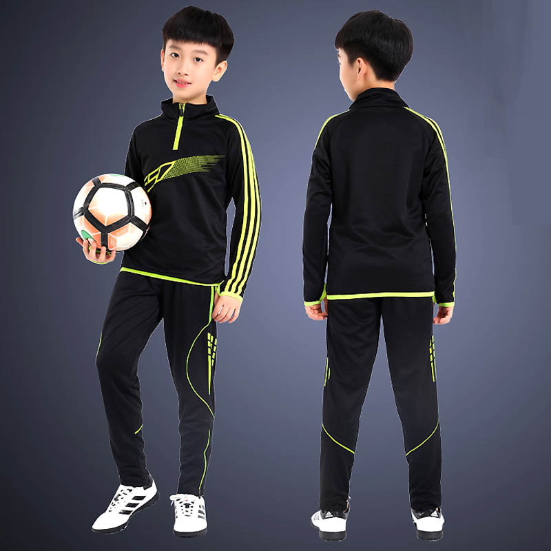 BHWYFC Kids Soccer Footbal Jerseys Set Men Football Tracksuits Men Set Training Suit Survetement Football 2019 2020 Long Sleeves in Soccer Jerseys from Sports Entertainment