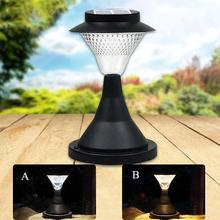 LumiParty 16 LED Outdoor Garden Path Landscape Fence Yard Pillar Lamp Solar Powered LED Light