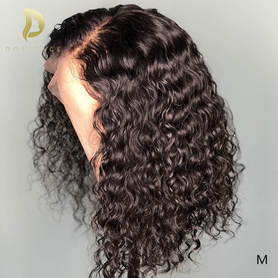 Short Lace Front Human Hair Wigs For Black Women Deep Curly Wave Bob Wig PrePlucked Brazilian Swiss Natural Remy  Afro Hair