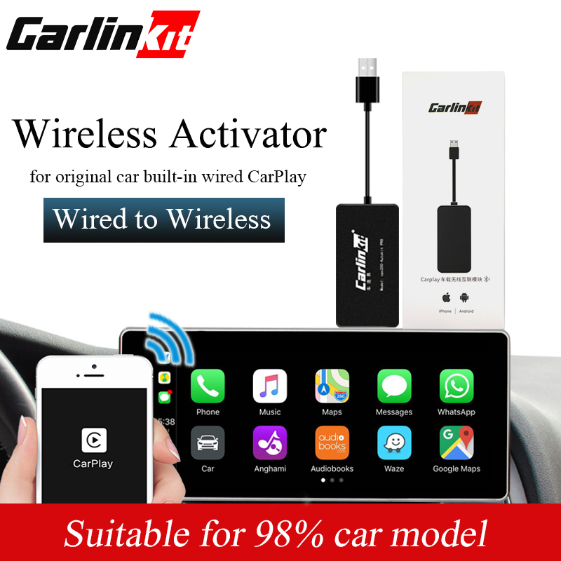Carlinkit CarPlay Wireless Activator USB Dongle Suitable Original Car Built In Wired CarPlay Wired To Wireless
