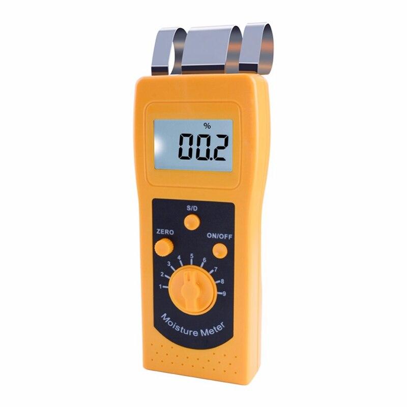 Instrumento dm200t alto desempenho portátil digital têxtil umidade medidor de medição display lcd
