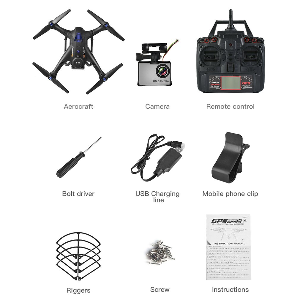 X183S RC Drone with 1080P 5G Camera Headless Mode Altitude Hold One Key Return Mini Remote Control GPS Quadrocopter new sale image