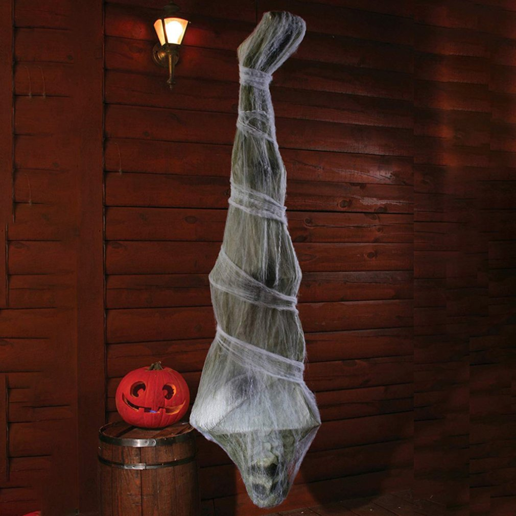 Nuevo éxito 2020 Halloween 1,8 M momias colgando fantasmas casa embrujada Bar cuarto secreto Horror atmósfera diseño accesorios Decoración