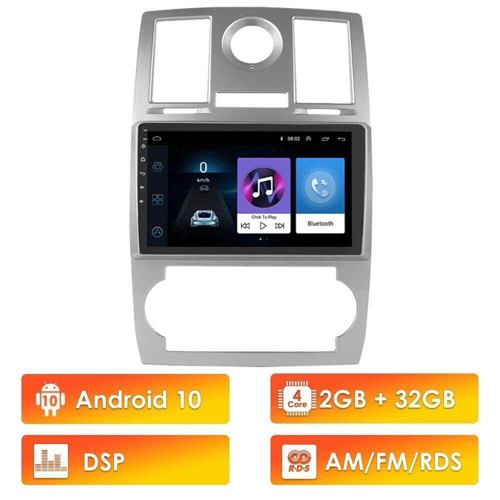 Para Chrysler Aspen 300C 2004-2011 2 Din 2.5D 9 pulgadas Android 10 AM/FM RDS DSP coche reproductor Multimedia BT WIFI GPS de navegación