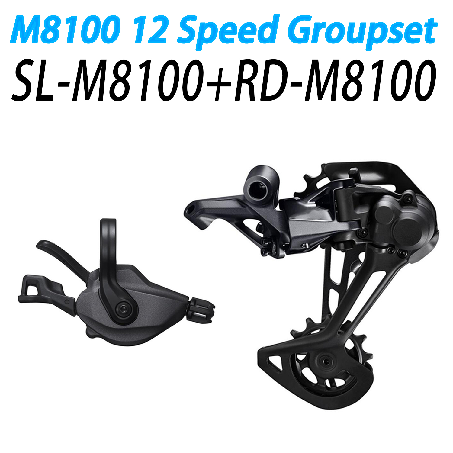 <font><b>XT</b></font> <font><b>M8100</b></font> Groupset Mountain Bike Groupset 1x12-Speed SL + RD <font><b>M8100</b></font> Rear Derailleur <font><b>m8100</b></font> Shifter Lever image