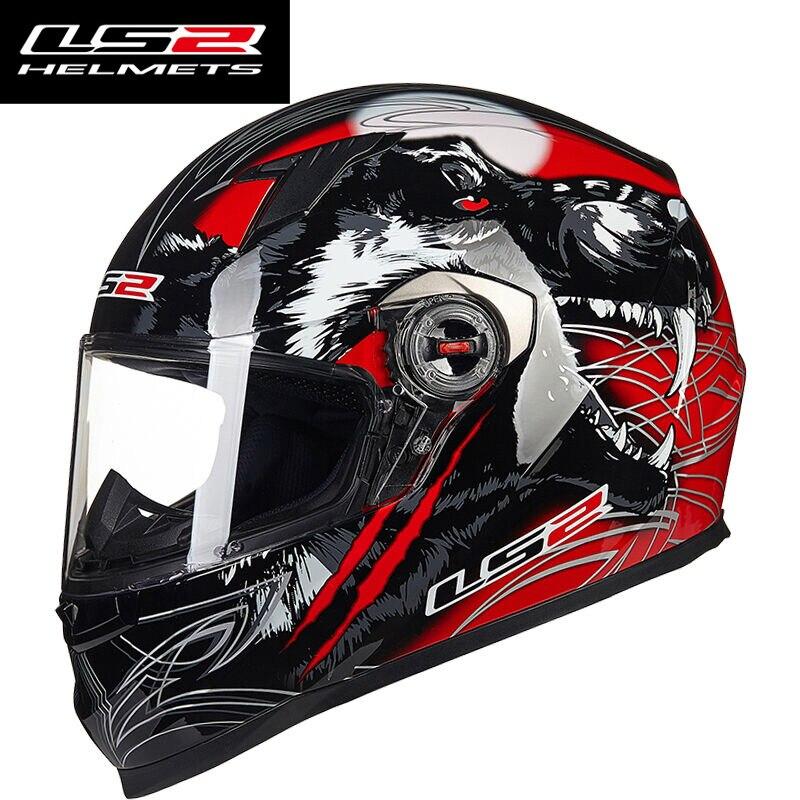 LS2 FF358 Homem Mulher Capacete ls2 Rosto Cheio Capacete de moto rcycle Com Interior Removível almofadas Casco moto capacete de moto cicleta