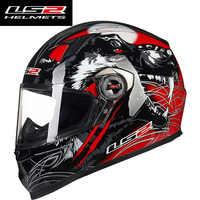 LS2 FF358 Pieno Viso moto rcycle Casco Uomo Donna Capacete ls2 Con Smontabile rilievi Interno Casco moto capacete de moto cicleta