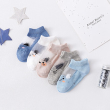 5Pairs/pack Newborn Baby Socks Summer Mesh Thin Baby Socks for Girls Cotton Infant Baby Boy Socks Casual Sport Style 2020 New