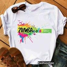 Zumba fitness t-shirt femmes danse amant noël t-shirt hip hop t-shirt t-shirt da société hauts graphique femmes taille grande