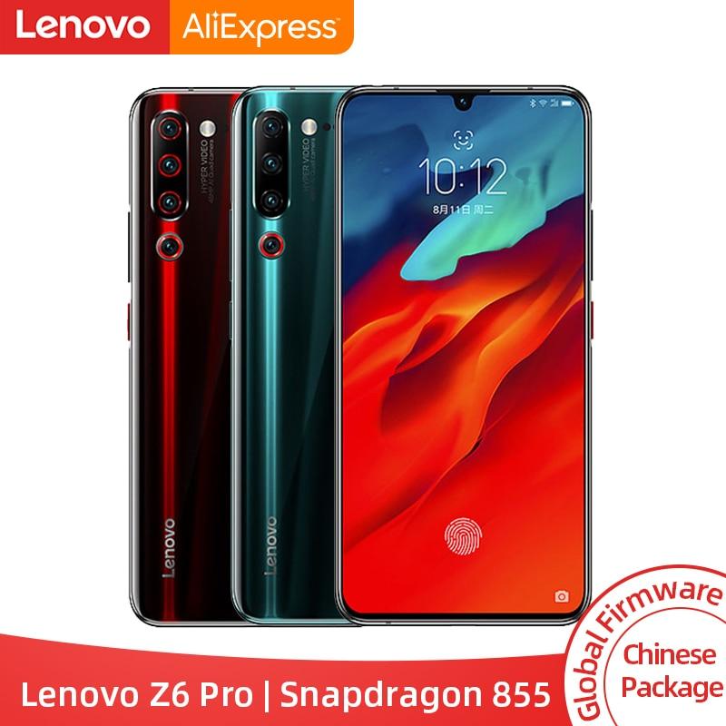 """Original rom global lenovo z6 pro snapdragon 855 octa núcleo 6.39 """"fhd display smartphone traseiro 48mp quad câmeras"""