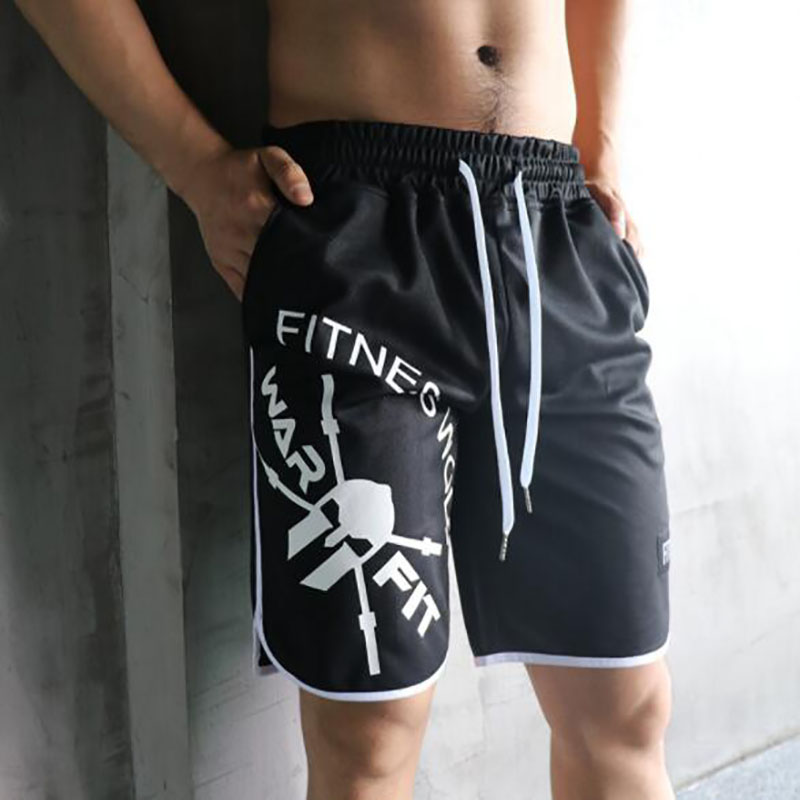 2019 New Arrival Summer Fashion Brand Men Gyms Shorts Fitness Bodybuilding Short Pants Beach Shorts Elastic Waist Shorts