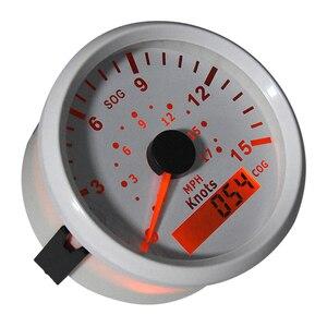 Image 5 - Velocímetro GPS de 85mm para motocicleta, medidor de velocidad Universal para barco y coche, 15 nudos, 0 17 MPH, 9 32V, para vehículos marinos, panel de instrumentos de 9 32V