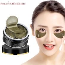 FONCE Schwarz Tee Kollagen Kristall Auge Patches 60 stücke Natürliche Entferner Augenringe Verblassen Feine Linien Schlaf Maske Taschen Maske