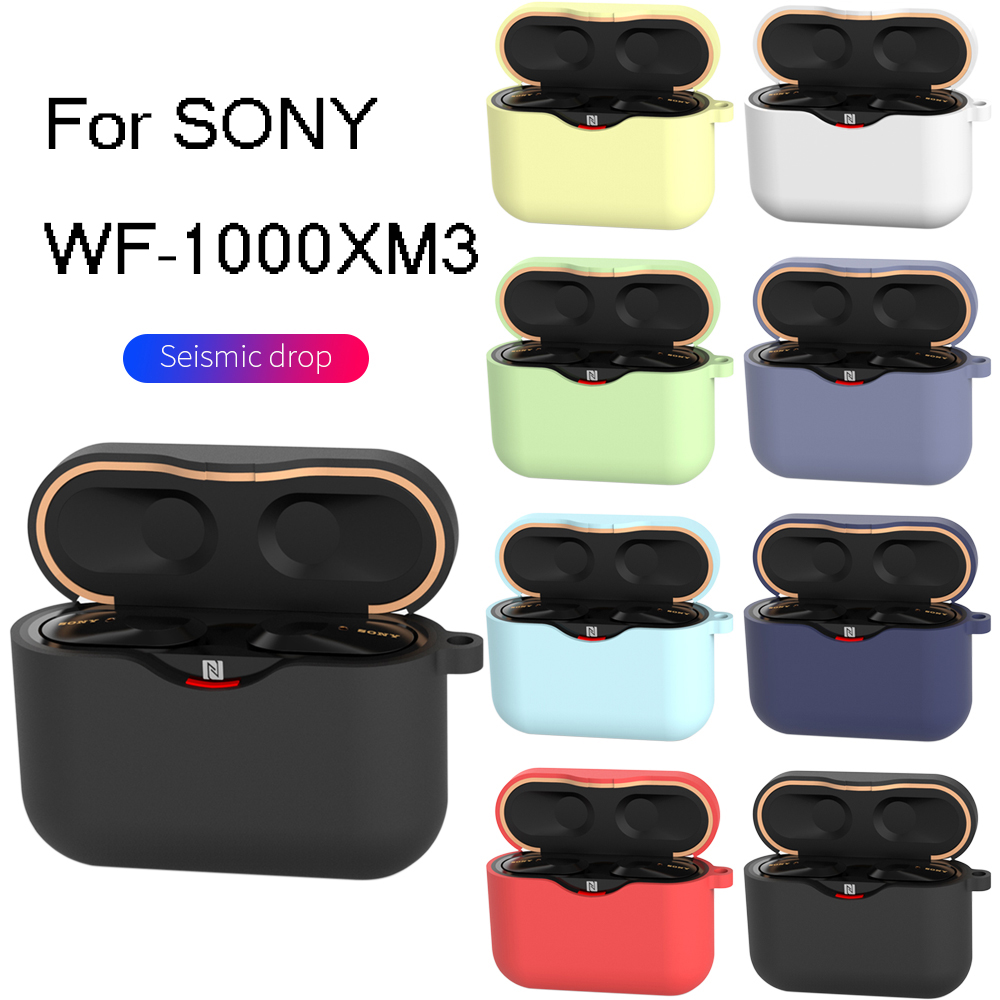 Silicone Earphone Case For SONY WF-1000XM3 Case Earphone Charging Box For SONY WF 1000XM3 Protective Case With Hook Anti-shock