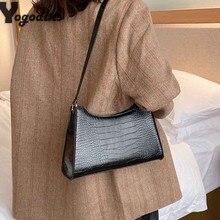 Women Crocodile Bag Luxury Designer Shoulder Bags Ladies pu Leather Stone Pouch Purse Retro Baguette Bags Shoulder