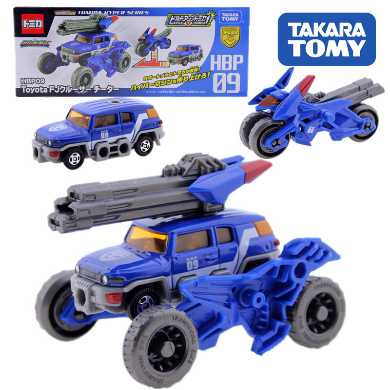 Takara Tomy Tomica <font><b>2</b></font> In 1 Action Figure Children Gifts Doll <font><b>Toys</b></font> <font><b>Transformation</b></font> Robot HBP09 Beach Motorcycle image