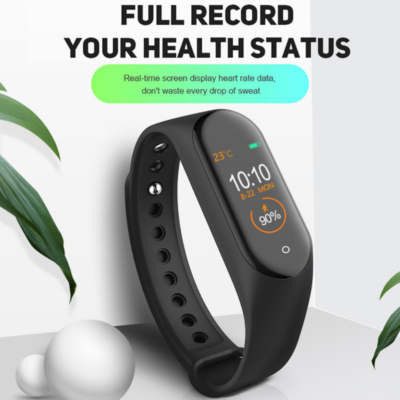Smart Watch Sports Bracelet Solid Color Bluetooth Wristband IP67 Waterproof Smartwatch Heart Rate Fitness Tracker Monitor Health