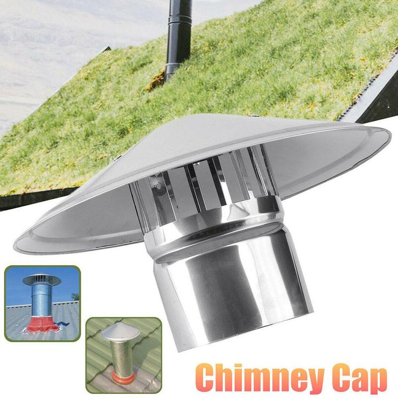 Stainless Steel Chimney Cap Roof Fume Hood Weathered Mushroom Shaped Lid Smoke Exhaust Pipe Cowl With Bird Guard Rain Snow Cover