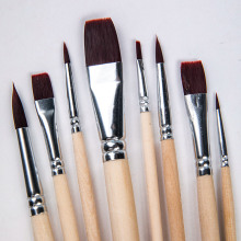 8pcs/set Long Handle Nylon Watercolor Paint Brushes Gouache Acrylic Painting Brush Pen pincel para pintura Art Supplies