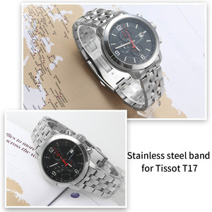 Image 5 - 19mm 20mm aço inoxidável pulseiras de relógio para tissot 1853 t17 t461 t014430 t014410 prc200 pulseira curvada prata ouro ferramentas