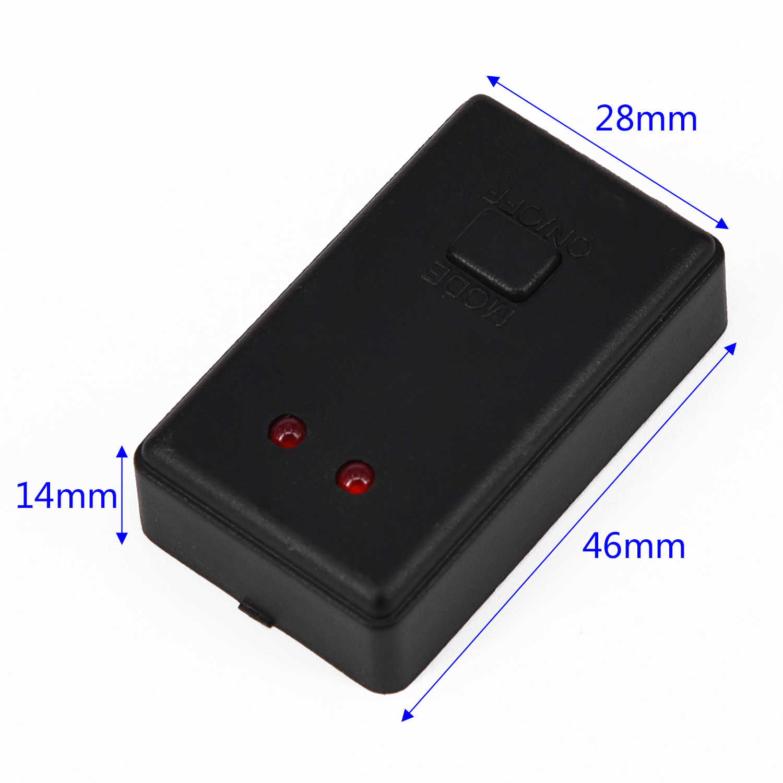 Max potencia 12 V/48 W Auto LED DRL Flash controlador estroboscópico caja módulo intermitente, 2 vías