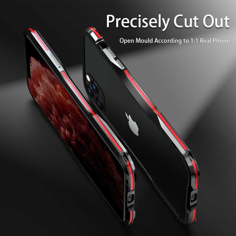 Luphie Metal Bumper Case Voor Iphone 11 Pro Max Cool Aluminium Frame Telefoon Cover Voor Iphone X Xr Xs Max 7 8 Plus Shockproof Coque