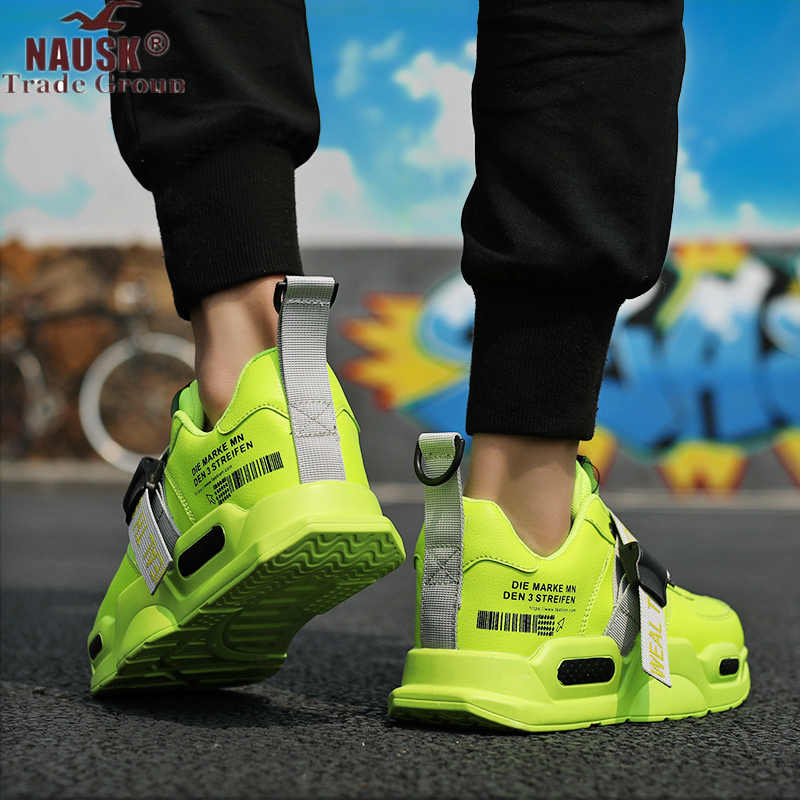 NAUSK 2019 Men Casual Shoes Brand Sneakers For Men Light Outdoor Air Mesh Man Fashion Sneaker Vulcanized Shoes Zapatillas Mujer