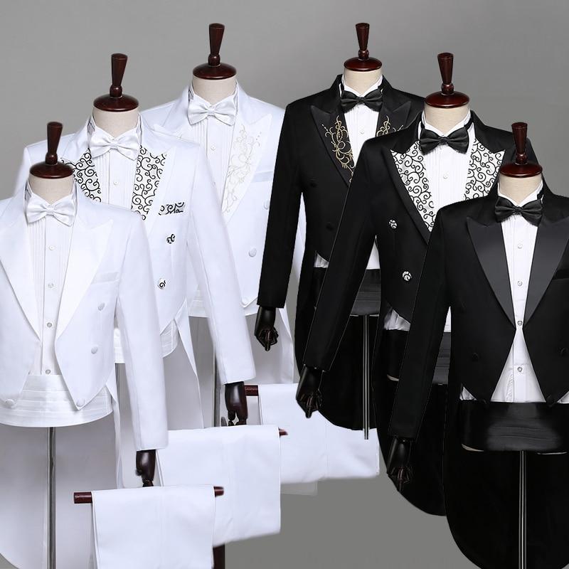 Men's Formal Slim Fit Formal Suit Long Sleeve Blazer Coat Jacket Top Tuxedo Full Dress Magician Show Teams Chorus Costume DT1465